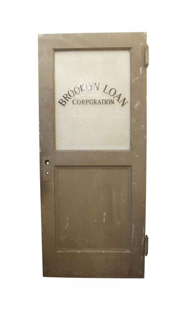 Commercial Doors - Vintage Brooklyn Loan Corporation Door 83.5 x 35.75