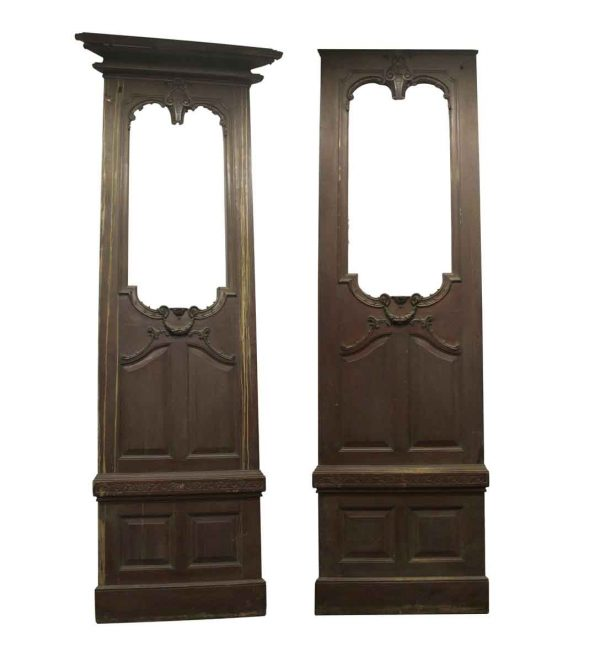 Flooring & Antique Wood - Antique Carved Mahogany Pipe Organ Panels