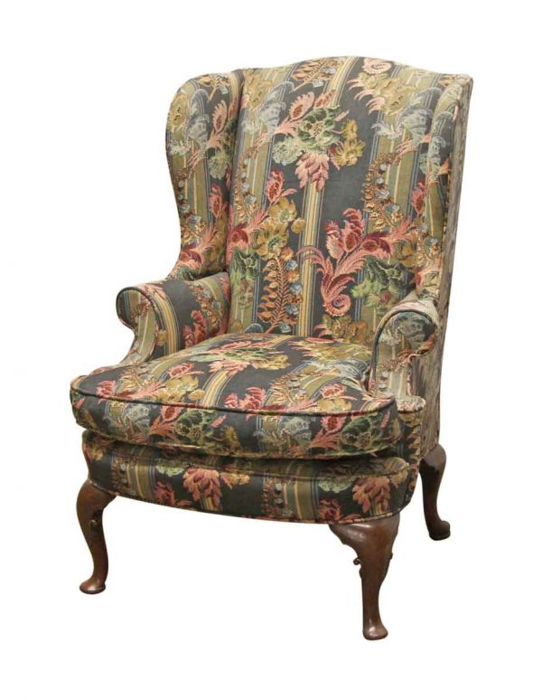 Living Room - Vintage Floral Arm Chair with Cabriole Legs