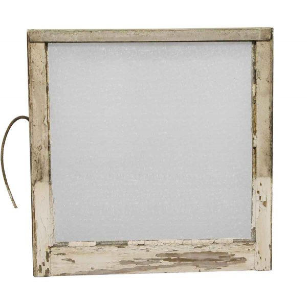 Reclaimed Windows - Reclaimed 28.5 x 25.75 Wooden Window with Snowflake Glass