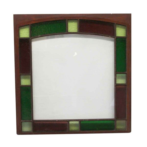 Stained Glass - Queen Anne 45 x 43.625 Stained Glass Window