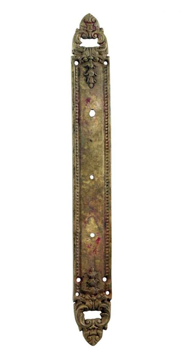 Back Plates - 14.875 in. Cast Brass French Door Back Plate