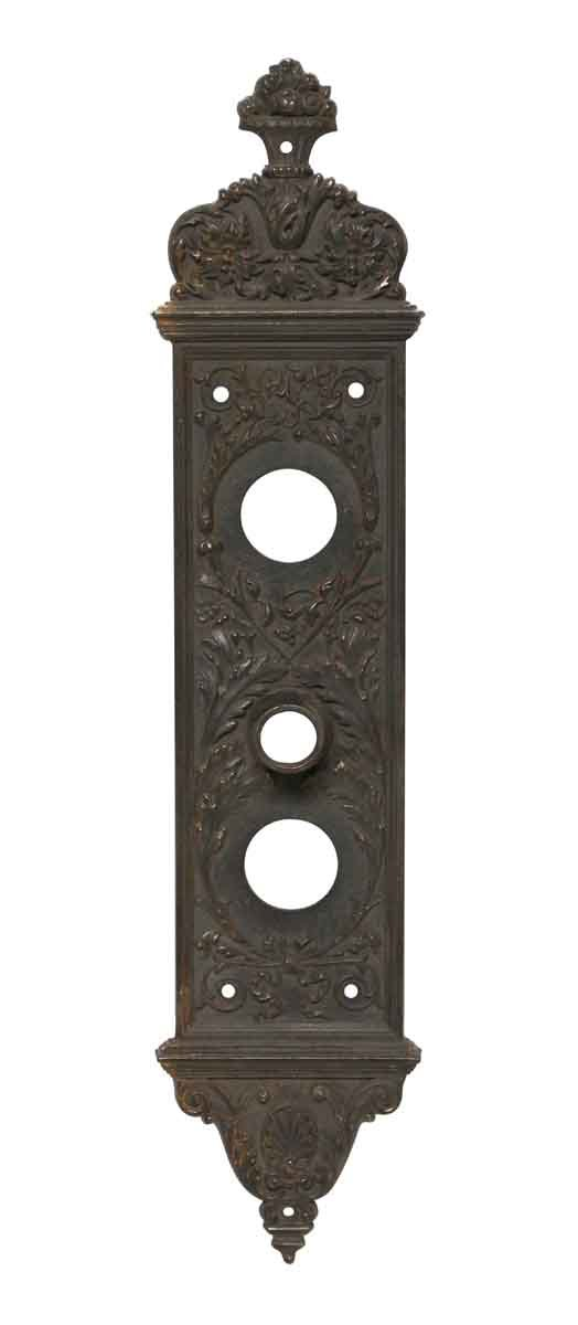 Back Plates - 15.25 in. Yale & Towne Victorian Entry Door Plate