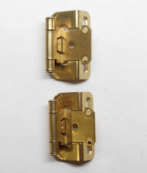 Cabinet & Furniture Hinges - Pair of 2.75 in. Partial Wrap Amerock Brass Plated Cabinet Hinges