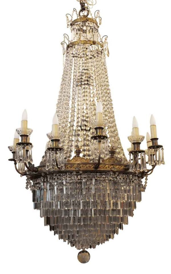 Chandeliers - 1927 Grand Theater Louis XVI Style Crystal Chandelier