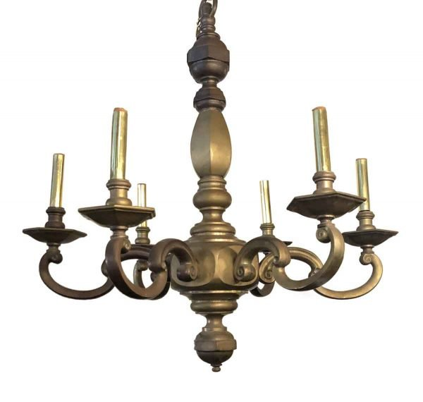 Chandeliers - Antique Bronze Georgian 6 Arm Chandelier