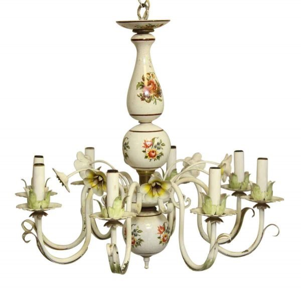 Chandeliers - Floral French Country Style Chandelier with 8 Lights