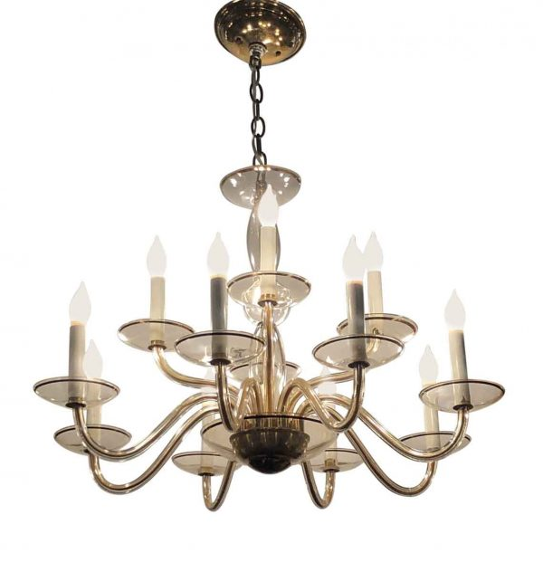 Chandeliers - Modern Murano Glass 12 Arm Chandelier
