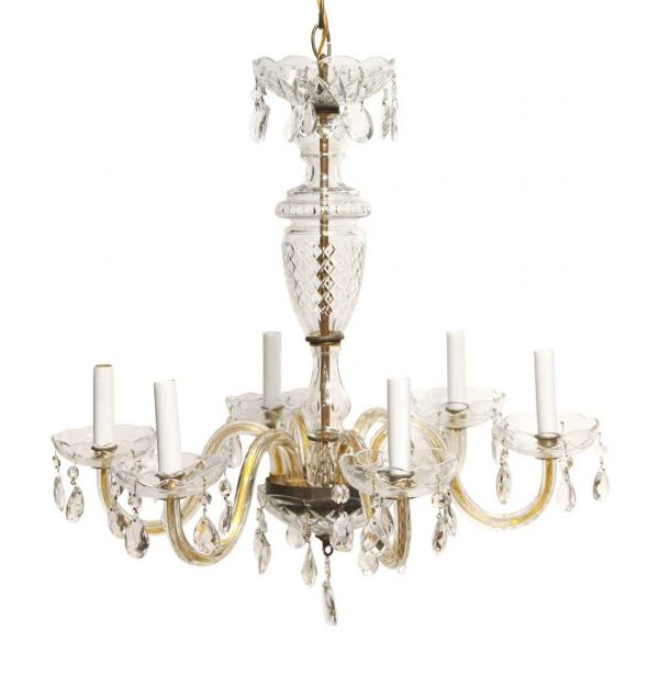 Chandeliers - Refurbished Crystal Traditional Chandelier with 6 Arms