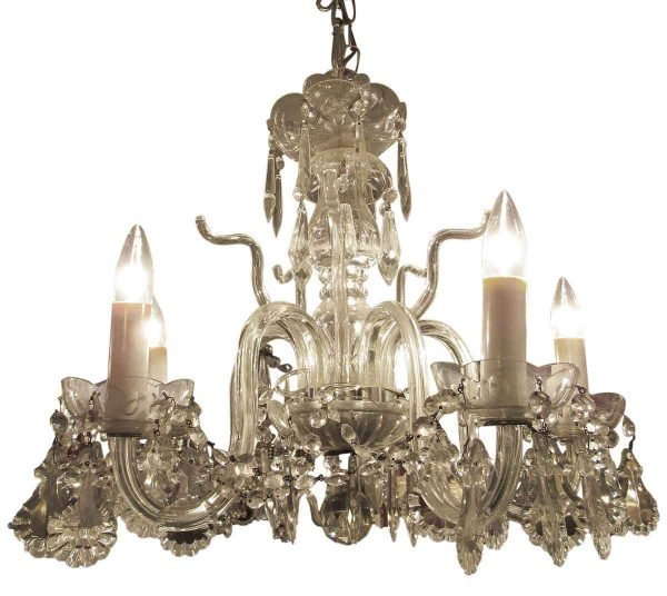 Chandeliers - Traditional Glass 5 Light Chandelier