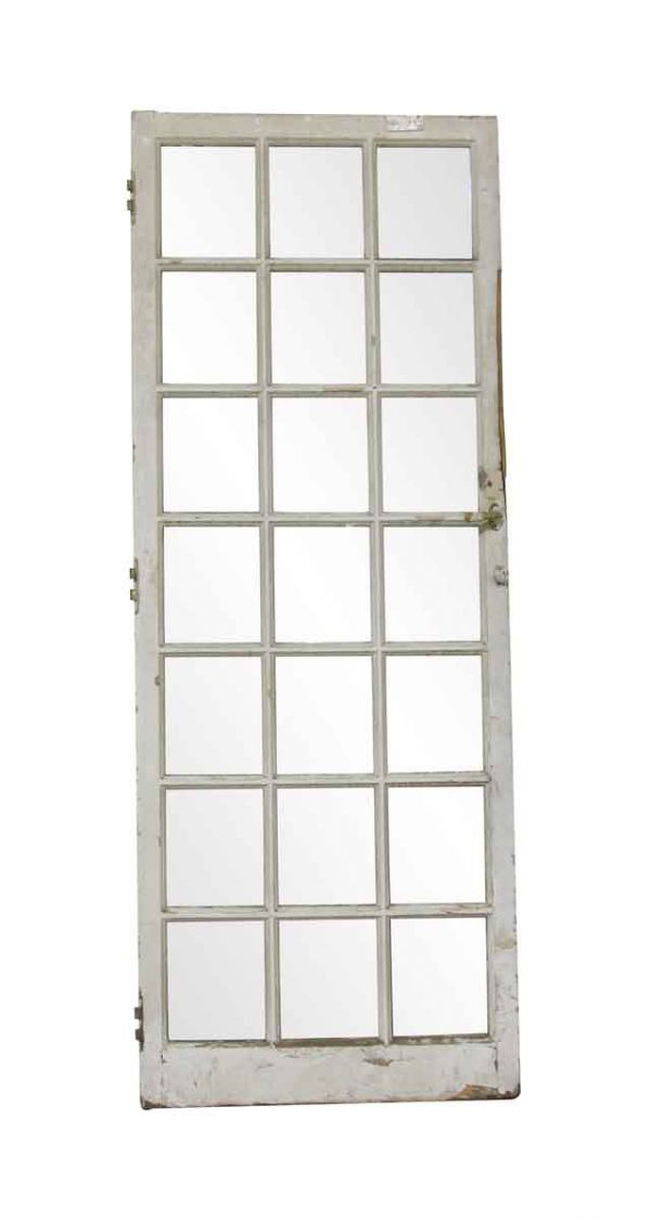 French Doors - Antique 21 Square Lite Wood French Door 77 x 29.5