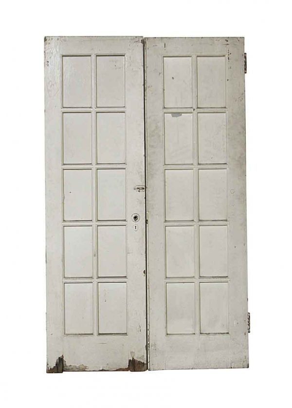 French Doors - Old 10 Lite Wood French Double Doors 79.5 x 47.75