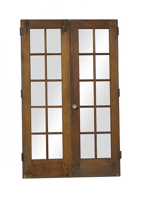 French Doors - Vintage 10 Lite Double French Doors 77.75 x 48
