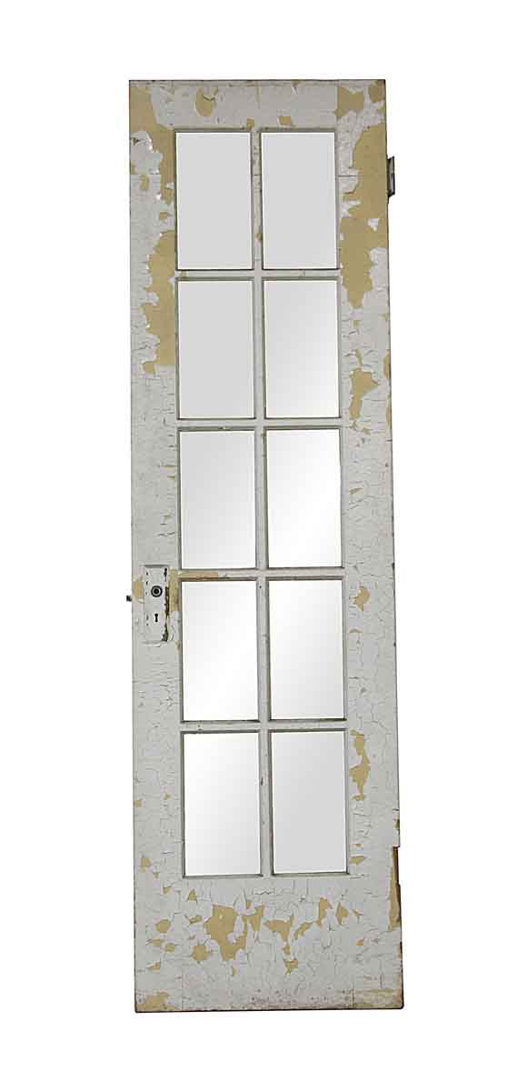 French Doors - Vintage 10 Lite Wooden French Door 84 x 23.75