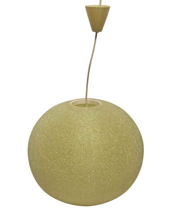Globes - Mid Century Pale Yellow French Arctic Ball Light