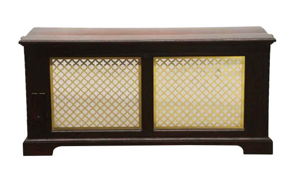 Heating Elements - Vintage Wood & Brass 47 x 22 Radiator Cover