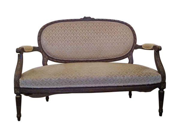 Living Room - 1800s Settee with Decorative Details