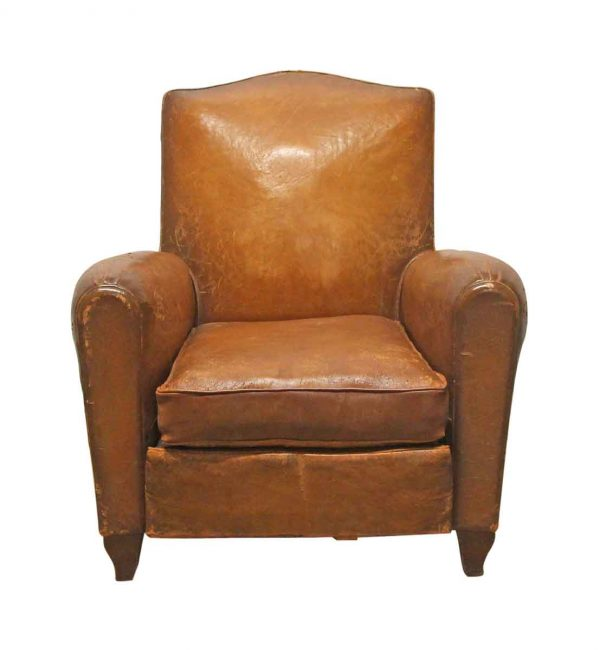 Living Room - Distressed Leather Imported Club Chair