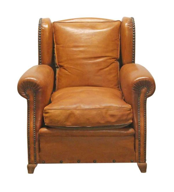 Living Room - Leather Vintage Bergere Club Chair