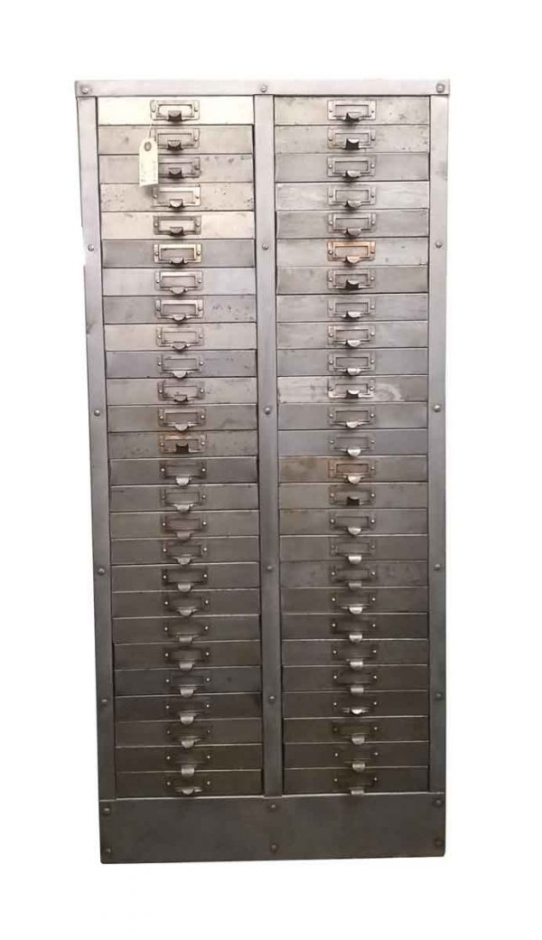 Office Furniture - Antique Steel File Drawer Cabinet