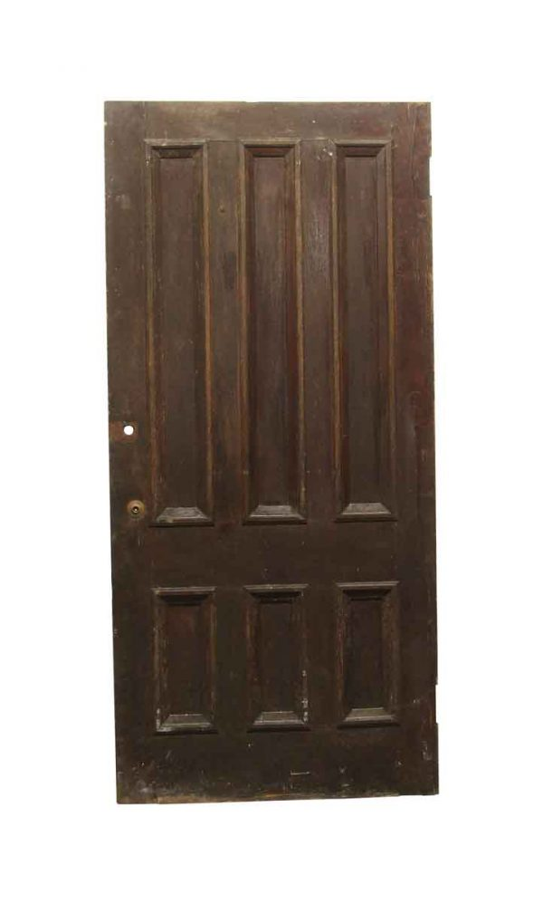 Standard Doors - Old 6 Panel Chestnut Privacy Door 89 x 41.75