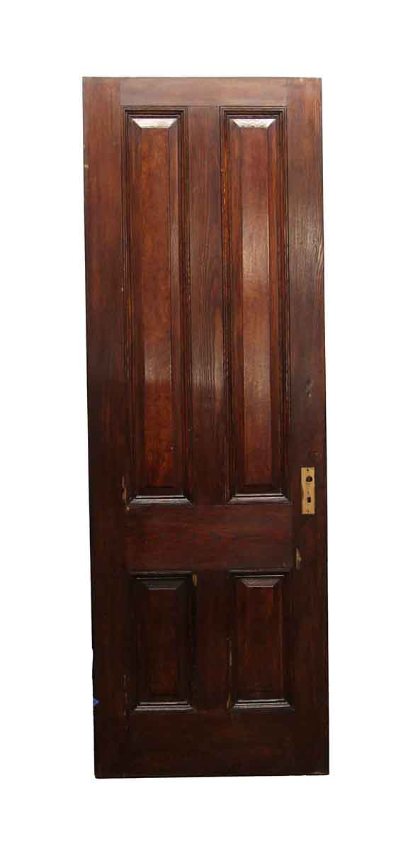 Standard Doors - Vintage 4 Panel Chestnut Passage Door 87.75 x 29.75
