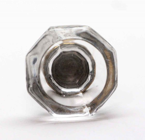Cabinet & Furniture Knobs - 1 in. Clear Octagon Glass Cabinet Knob