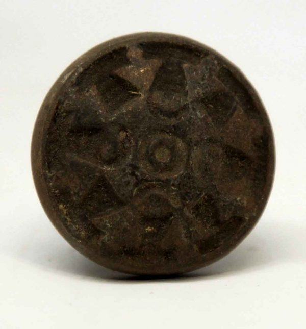 Cabinet & Furniture Knobs - Antique Pinwheel Cast Iron Cabinet Knob