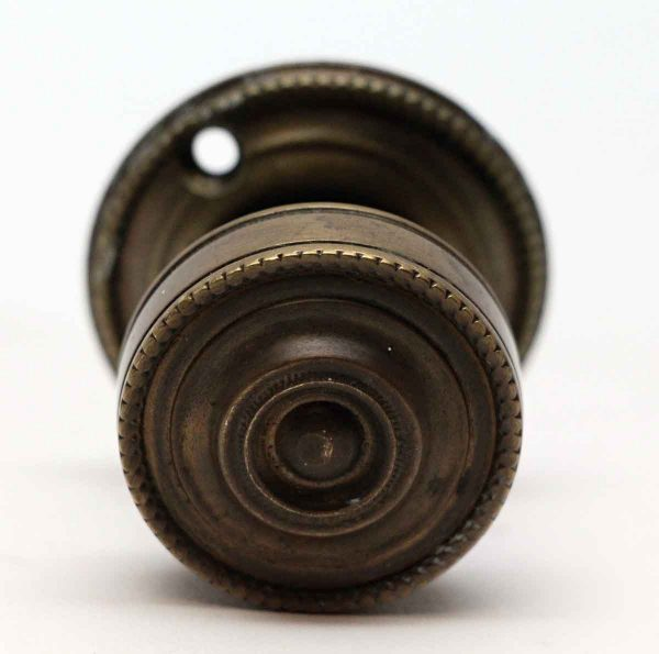 Cabinet & Furniture Knobs - Beaded Bronze Cabinet Knob with Rosette