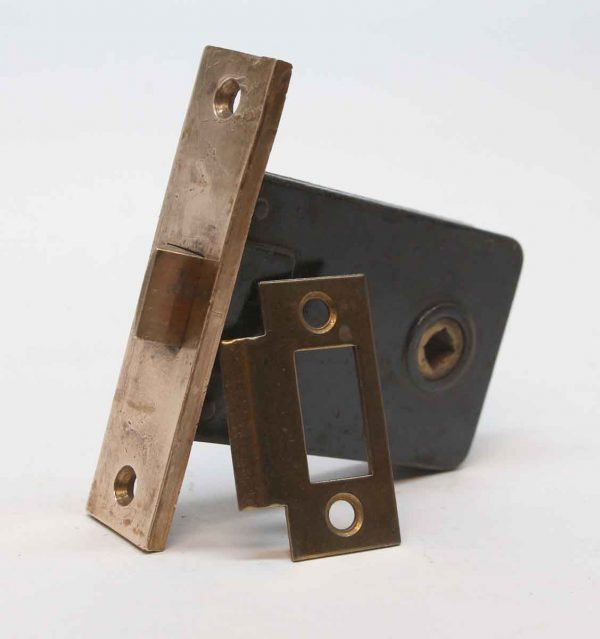 Door Locks - Corbin Cast Iron & Bronze Passage Lock with Strike Plate