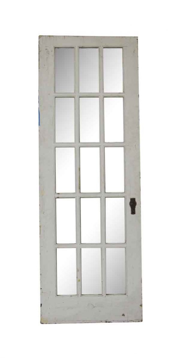 French Doors - Antique 15 Lite Wood French Door 85.25 x 29.875