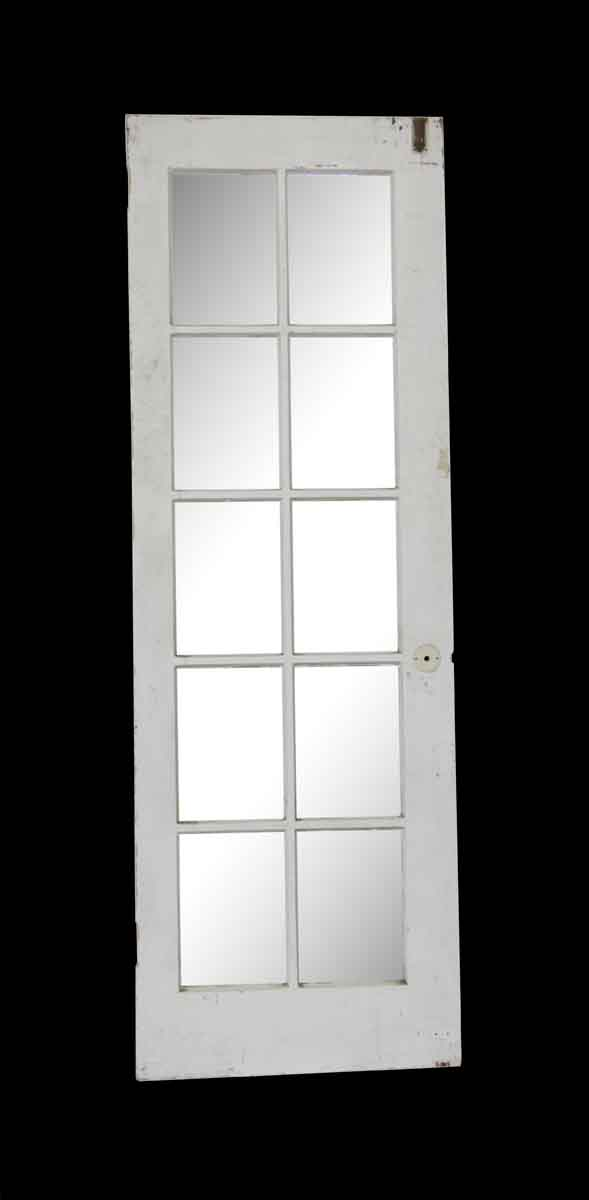 French Doors - Vintage 10 Lite White French Door 79.75 x 26.625