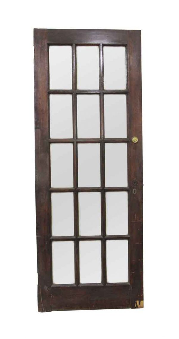 French Doors - Vintage 15 Lite Wood French Door 82 x 31.375