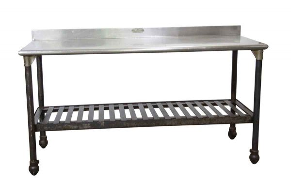 Kitchen - Reclaimed 64 in. Stainless Steel Top Commercial Table