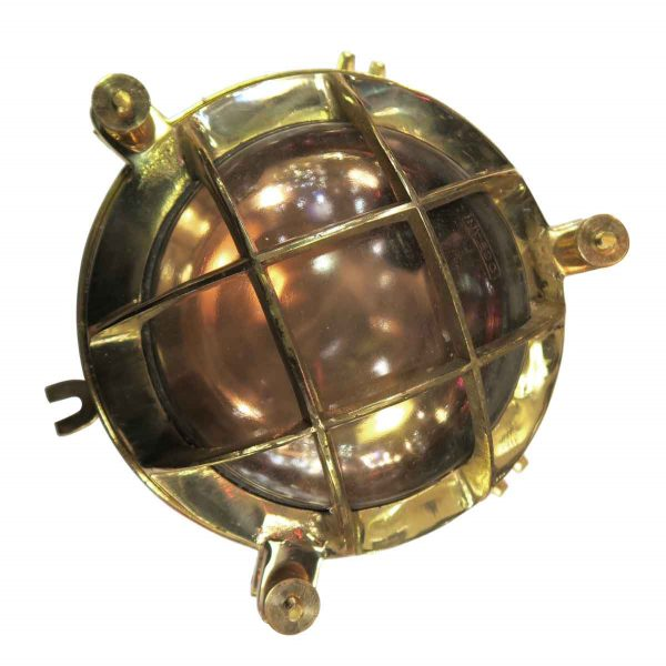 Nautical Lighting - Brass & Copper 12 in. Nautical Porthole Light
