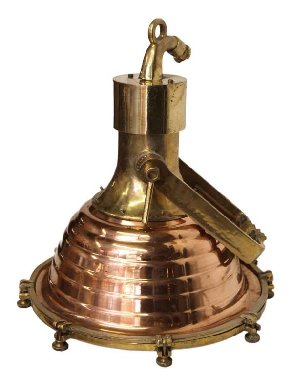 Nautical Lighting - Large Copper & Brass 19 in. Fox Light