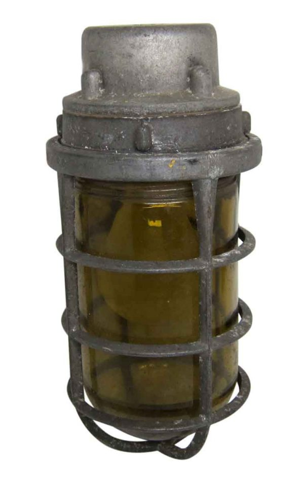 Nautical Lighting - Old Amber Glass 9.5 in. Nautical Sconce