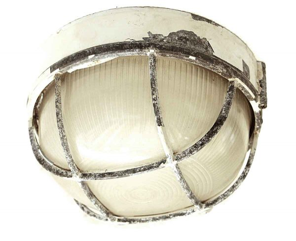 Nautical Lighting - Vintage Round 9.5 in. Aluminum Ship Ceiling Light