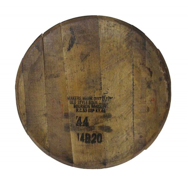 Other Wall Art  - Makers Mark Bourbon Whiskey Barrel Lid Wall Art