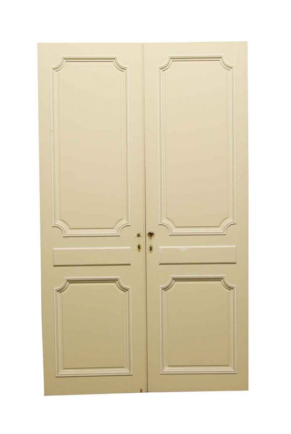 Standard Doors - Vintage 2 Panel White Closet Double Doors 80.625 x 48.375