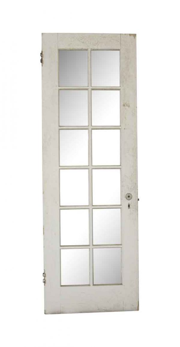 French Doors - Vintage 12 Lite White Wood French Door 83.25 x 28.375