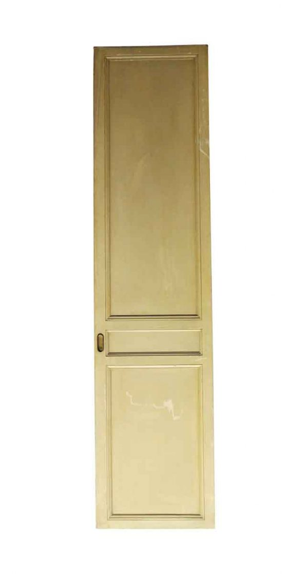 Pocket Doors - Vintage 3 Panel Wood Tan Pocket Door 83.75 x 20.25