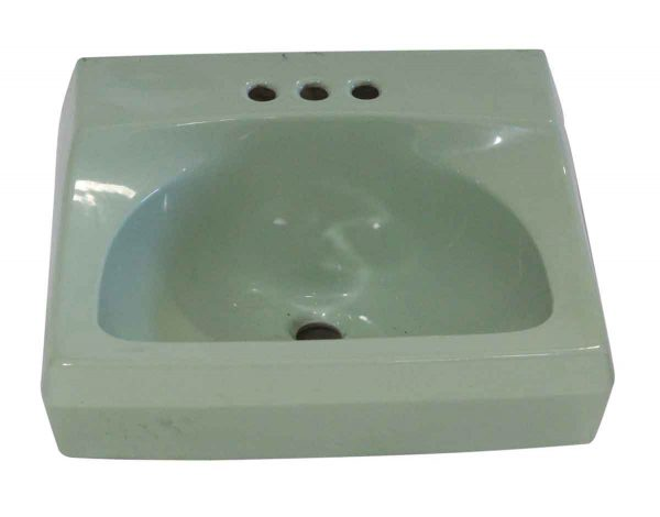 Bathroom - 1950s Vintage 20 in. Green Porcelain Sink