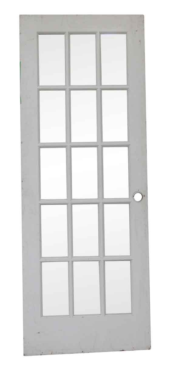 French Doors - Vintage 15 Lite White French Door 79.625 x 29.75