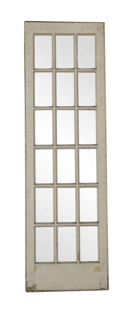 French Doors - Vintage 18 Lite White Wood French Door 89.5 x 27.5