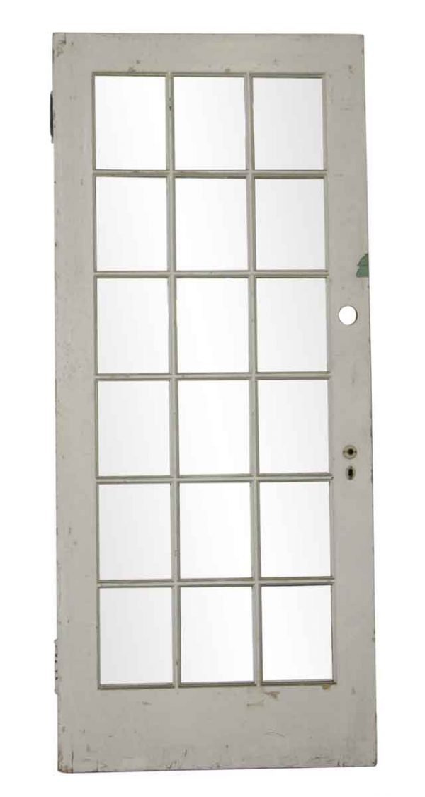 French Doors - Vintage White 18 Lite French Door 83 x 36