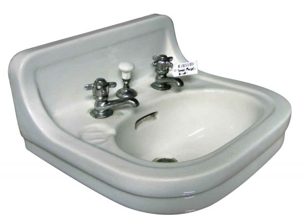 Bathroom - Salvage 20 in. White Porcelain Wall Sink