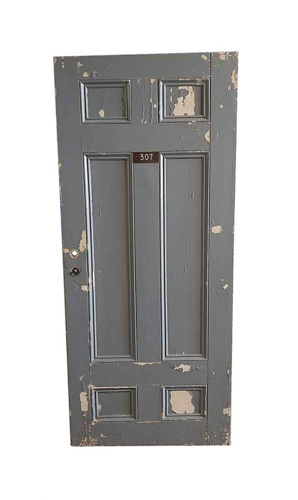 Commercial Doors - Antique 6 Pane Wood Apartment Door 79.5 x 34.75