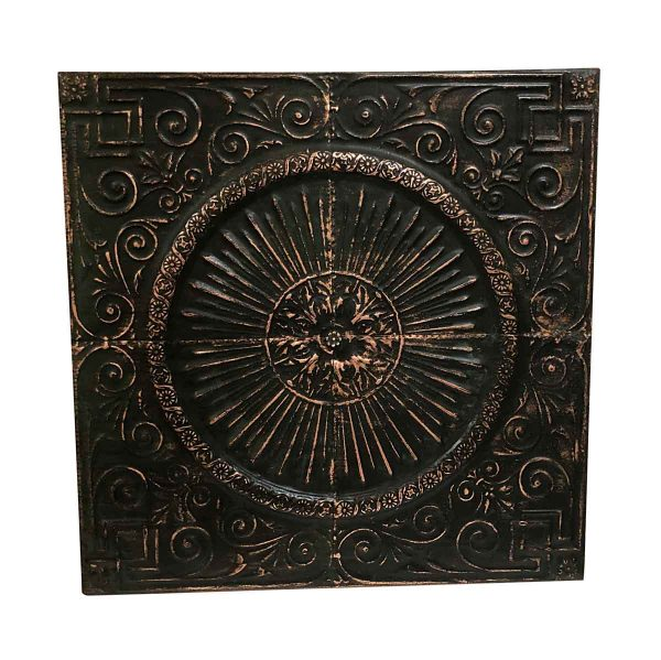 Copper Mirrors & Panels - Brown Patina Copper Medallion 47 in. Wall Panel