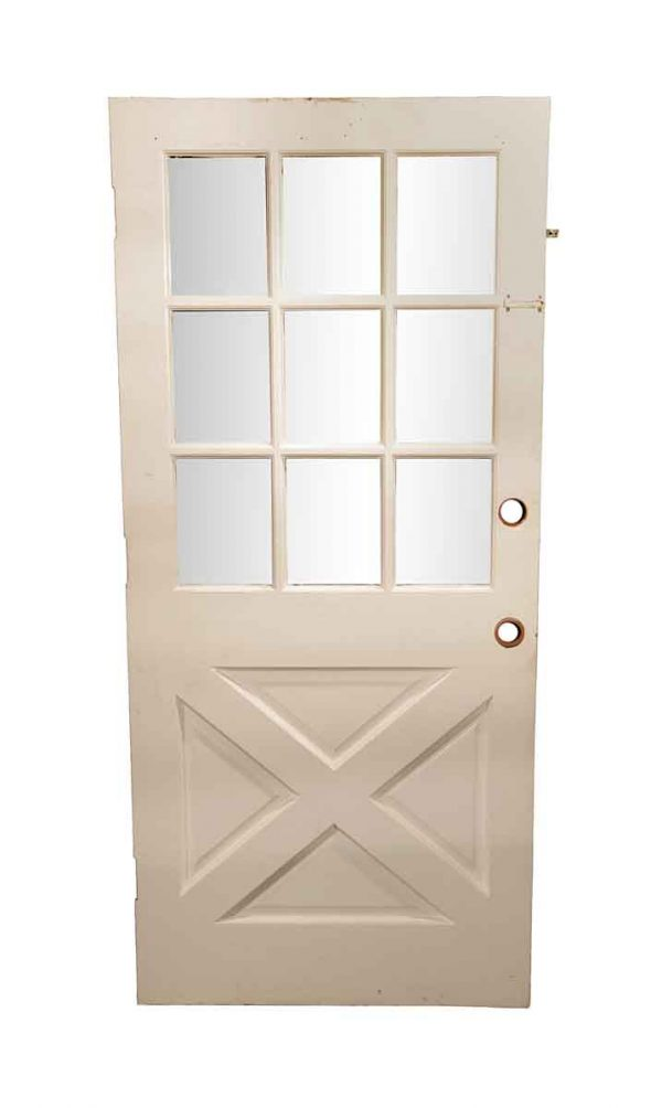Entry Doors - Vintage Half 9 Lite French Entry Door 79 x 36
